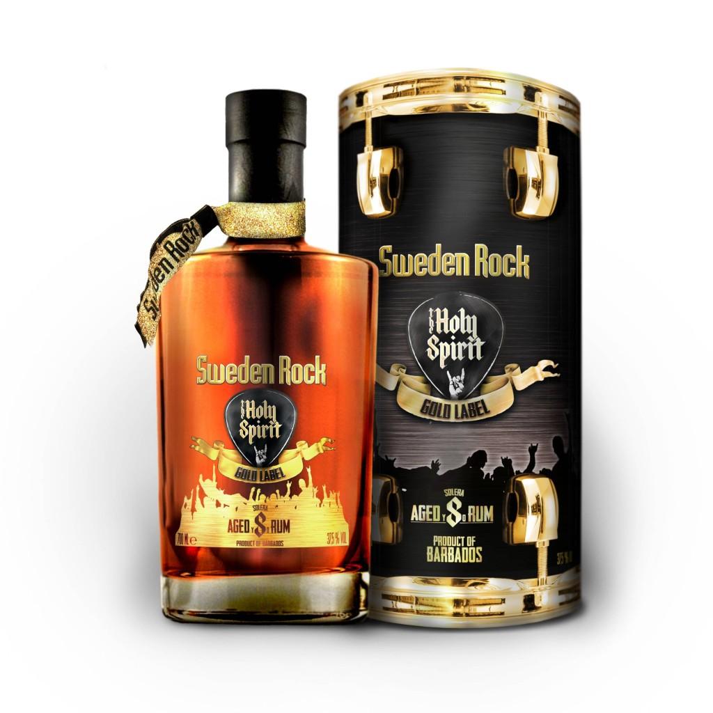 Sweden Rock Festival, Norje, säljer flera framgångsrika alkoholprodukter på Systembolaget. Här en mörk rom kallad The Holy Spirit of Sweden Rock Gold Label. Foto: Brands for fans